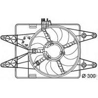 Вентилятор в сборе FIAT DOBLO 1.9 D без кондиционера  (POLCAR)