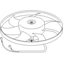 Вентилятор радиатора охлаждения для фольксваген мультивен, каравелла, транспортер