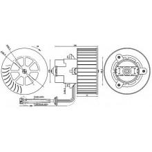 Мотор печки OPEL OMEGA B (POLCAR)