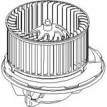 Мотор печки VW, SKODA, SEAT, AUDI (POLCAR)