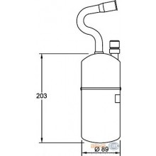 Осушитель кондиционера VOLVO XC70, V70, S70, C70, 850 (BEHR HELLA SERVICE)