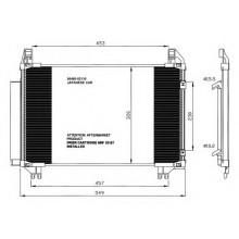 Радиатор кондиционера TOYOTA YARIS  05- Япония