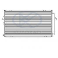 Радиатор кондиционера TOYOTA RAV4 2 00-05 CD010228A