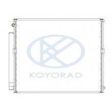 Радиатор кондиционера Toyota HILUX, LANDCRUISER PRADO 120 CD010350Q