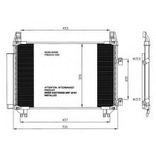 Радиатор кондиционера TOYOTA YARIS 05- Франция