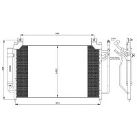 Радиатор кондиционера Koyorad Mazda CX-7