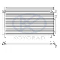 Радиатор кондиционера Koyorad Subaru Forester 01-05