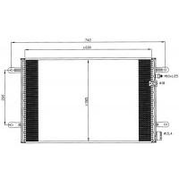 Радиатор кондиционера AUDI A6 - 482301N (AKS DASIS)