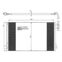 Радиатор кондиционера BMW 1 серия, 3 серия - 052015N (AKS DASIS)