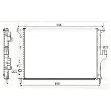 Радиатор охлаждения DACIA LOGAN, SANDERO - 180081N (AKS DASIS)