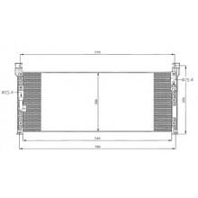 Радиатор кондиционера TOYOTA RAV 4 212140N (AKS DASIS)