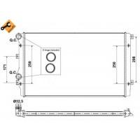 Радиатор охлаждения AUDI, SEAT, SKODA, VW -  65280A (NISSENS)
