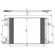 Радиатор кондиционера CHEVROLET CRUZE,OPEL ASTRA ZAFIRA C - 940134 (NISSENS)