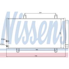 Радиатор кондиционера LEXUS ES / TOYOTA CAMRY - 940194 (NISSENS)