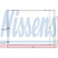 Радиатор кондиционера LEXUS RX - 940297 (NISSENS)
