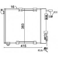 Радиатор кондиционера OPEL - 0807.2011 (FRIGAIR)
