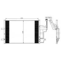 Радиатор кондиционера MAZDA 3 - 0825.3020 (FRIGAIR)