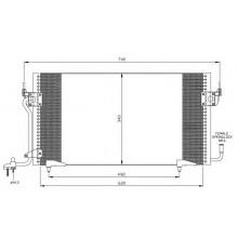 Радиатор кондиционера CITROEN, PEUGEOT - 35439 (NRF)