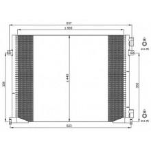 Радиатор кондиционера NISSAN, OPEL, RENAULT - 35482 (NRF)