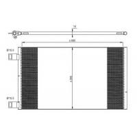 Радиатор кондиционера RENAULT KANGOO - 35902 (NRF)