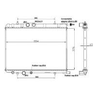 Радиатор охлаждения CITROEN, PEUGEOT - 53424 (NRF)