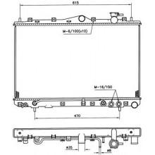 Радиатор охлаждения HYUNDAI SONATA - HCC