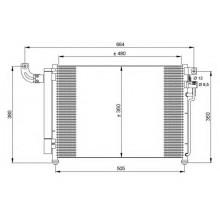 Радиатор кондиционера KIA RIO - HCC