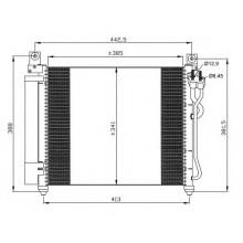Радиатор кондиционера KIA PICANTO - HCC