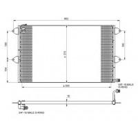 Радиатор кондиционера SEAT, VW - 94204 (NISSENS)