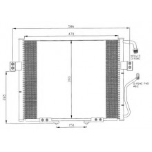 Радиатор кондиционера KIA SPORTAGE - HCC