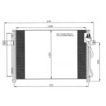 Радиатор кондиционера HYUNDAI GETZ - HCC