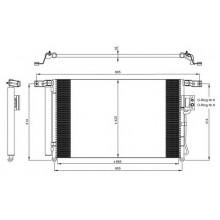 Радиатор кондиционера HYUNDAI SANTA FE - HCC