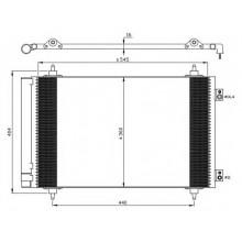 Радиатор кондиционера CITROEN, FIAT, PEUGEOT - 940111 (RADAUTO)