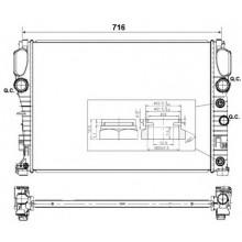 Радиатор охлаждения MERCEDES-BENZ CLS / E-CLASS W211, S211 - 120009N (AKS DASIS)
