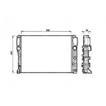 Радиатор охлаждения MERCEDES-BENZ CLS C219 /  E-CLASS W211, S211 - 120094N (AKS DASIS)