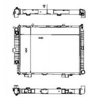 Радиатор охлаждения MERCEDES-BENZ E-CLASS, S210, W210 120590N (AKS DASIS)