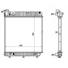 Радиатор охлаждения MERCEDES-BENZ T1 - 132460N (AKS DASIS)