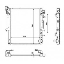 Радиатор охлаждения MITSUBISHI L 200  - 140102N (AKS DASIS)
