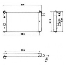 Радиатор OPEL KADETT E - 525X320 (AKS DASIS)