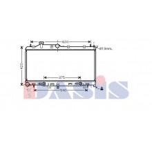 Радиатор охлаждения SUBARU LEGACY - 350034N (AKS DASIS)