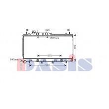 Радиатор охлаждения SUBARU LEGACY - 350035N (AKS DASIS)
