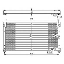 Радиатор кондиционера HONDA - 35348 (NRF)