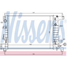 Радиатор охлаждения CHEVROLET AVEO - 61678 (NISSENS)