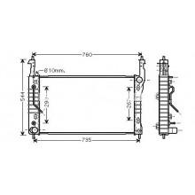 Радиатор охлаждения CHEVROLET, OPEL - HCC
