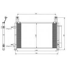 Радиатор кондиционера DAEWOO MATIZ - HCC