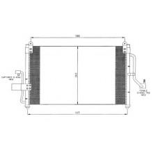 Радиатор кондиционера DAEWOO NUBIRA - HCC