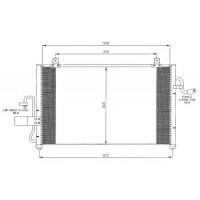 Радиатор кондиционера CHEVROLET TACUMA - HCC