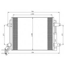 Радиатор кондиционера VW TIGUAN - 042015N (AKS DASIS)