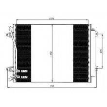 Радиатор кондиционера VW PASSAT, VW CC - 042019N (AKS DASIS)