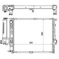 Радиатор охлаждения BMW 5 E34, E39 - 050950N (AKS DASIS)